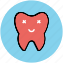 cartoon, cartoon tooth, cheerful, dental, dental improvement, healthy tooth, hygiene, tooth icon