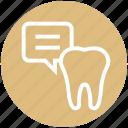 .svg, chat, dental, dental care, dentistry dialogue, health, stomatology icon