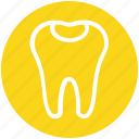 3, dental, dental protection, healthcare, molar with caries, stomatology icon