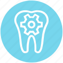 .svg, dental, dental care, dentist, gear, service, tooth icon