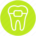 .svg, braces, dental, healthcare, protection, stomatology, teeth braces icon