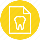 .svg, care, case, clinic, dentist, paper, record icon