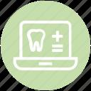 .svg, dental, health, healthcare, laptop, medicine, teeth icon