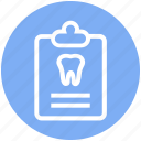 .svg, care, case, clipboard, dental, record, tooth icon