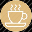 .svg, coffee, cup, hot coffee, mug, plate, tea icon