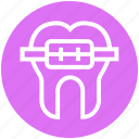 .svg, braces, dentist, medical, metal, straighten, tooth icon