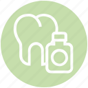 .svg, bottle, dental, dentist, teeth, tooth, tooth in bottle icon