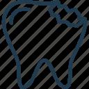 caries, crack, dental, dentist, problem, teeth, tooth icon