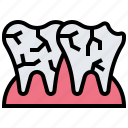 caries, decay, dental, teeth, tooth icon