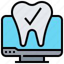 checkup, computer, diagnostic, teeth, tooth icon