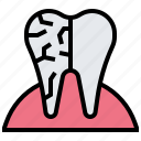 caries, decay, dental, medical, tooth icon