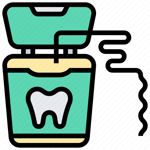 dental, floss, healthcare, medical, tooth icon
