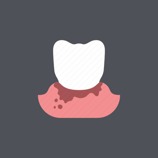bleed, dental, dentist, gum disease, medical, periodontitis, toothache icon