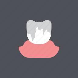 dental, dentist, enamel erosion, health, medical, tooth, toothache icon