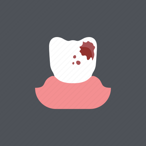 caries, dental, dentist, health, medical, toothache, toothdecay icon