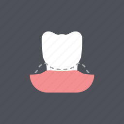 dental, dentist, gum disease, health, medical, periodontitis, tooth icon