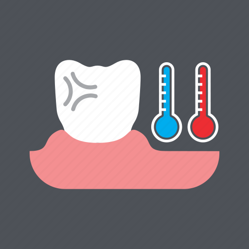 cold, dental, health, hot, medical, sensitive tooth, tooth icon