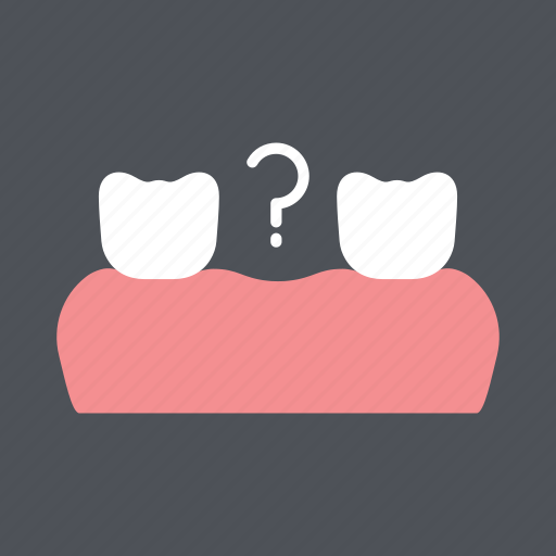 dental, dentist, health, medical, missing tooth, tooth, toothloss icon