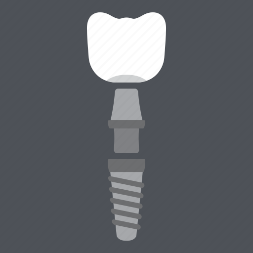 crown, dental, dental implant structure, dentist, health, implant, medical icon