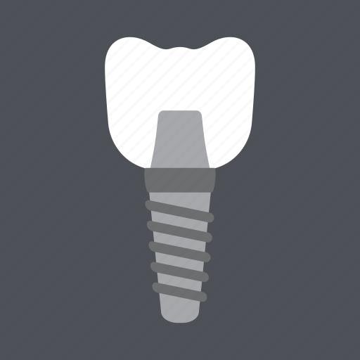 dental, dentist, health, implant, medical, molar, tooth icon