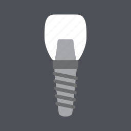 dental, dentist, health, implant, incisor, medical, tooth icon