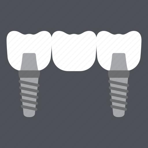 dental, dentist, health, implant, medical, screw, teeth icon