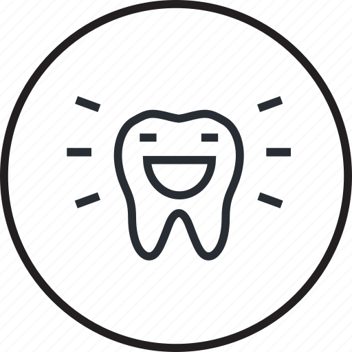 care, cleaning, dental, dentist, line, teeth icon