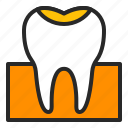 cavity, decay, dentistry, filling, stomatology, teeth, tooth icon