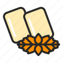chewing, gum, healthcare, healthy, mint, sugarfree, tooth icon