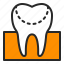 cavity, decay, dentistry, filling, healthcare, orthodontics, tooth icon