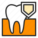 dental, dentistry, health, healthcare, protect, strong, tooth icon