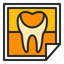 check, dentistry, oral medicine, picture, stomatology, tooth, xray icon