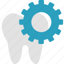 care, dental, dentistry, gear, restoration, tooth, treatment icon