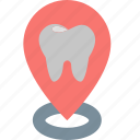 address, contact, dentistry, location, marker, navigation, place icon