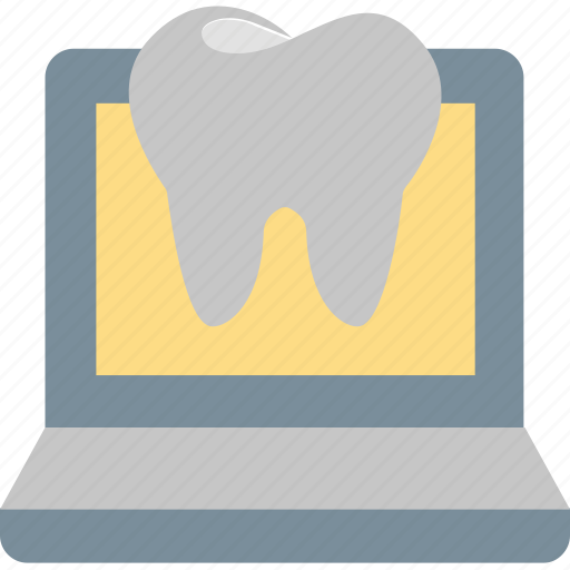 computer, dentistry, information, internet, online, tooth, web icon