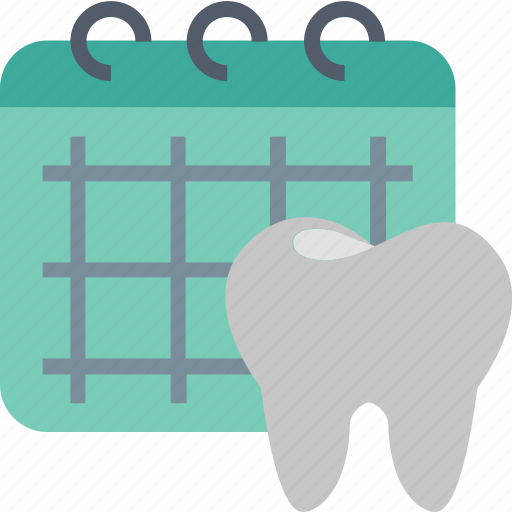appointment, calendar, date, dentistry, planning, scheduling, tooth icon