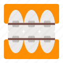 aligners, braces, dentistry, oral, orthodontics, teeth, tooth icon