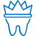 crowns, dental, dentist, dentistry, healthcare, tooth, treatment icon
