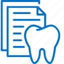 dental, dentist, document, healthcare, medical, records, tooth icon