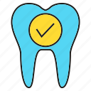 care, check, dental, tick, tooth icon