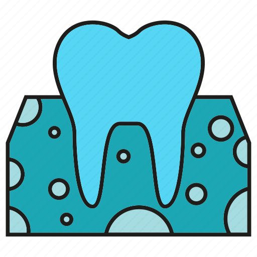 care, dental, gum, root, tooth icon