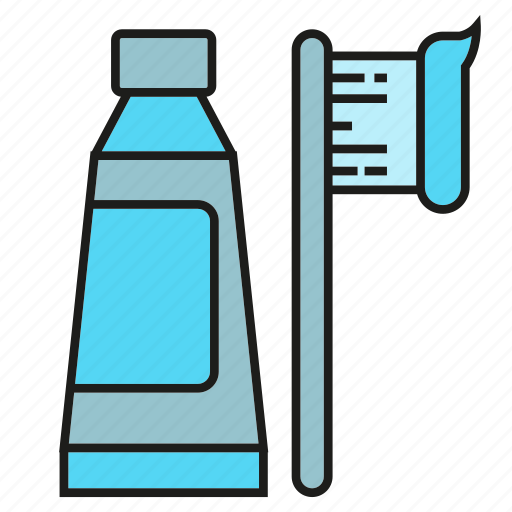 dentifrice, toothbrush, toothpaste icon