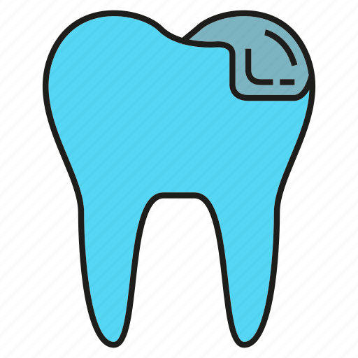 caries, decayed tooth, dental, tooth icon