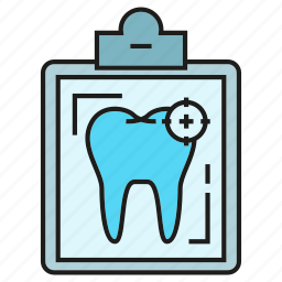 care, clipboard, dental, medical, tooth icon