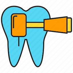 care, dental equipment, drill, stomatology, tool, tooth icon