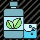 bottle, care, cleaning, gargle, mouthwash icon