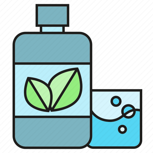 bottle, care, cleaning, gargle, mouthwash icon
