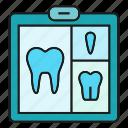 clipboard, dental, gum, root, teeth icon