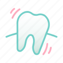 baby tooth, dental, health, hygiene, loose tooth, milk tooth, tooth icon