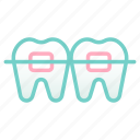 beauty, dental, medical, orthodontic, teeth, teeth braces, treatment icon